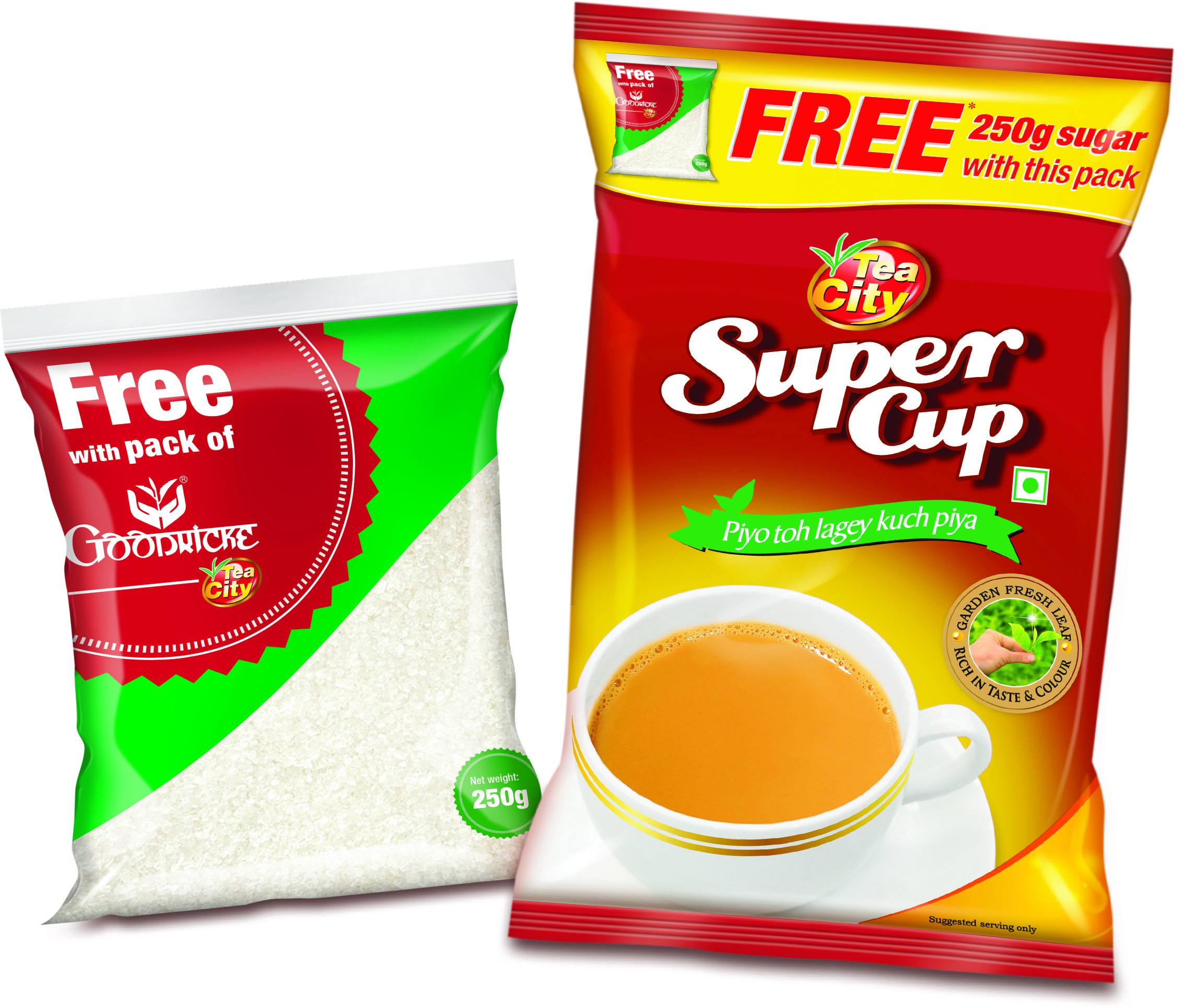 Black CTC Tea - Super Cup Tea - 250 Gms, with Free Sugar - 250 Gms